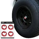 Herz Love Hochzeit Brautschmuck Valentinstag Jahrestag Tire Rad Center Gap resin-topped Abzeichen Aufkleber