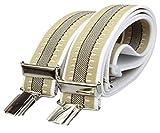 Alex Flittner Designs X Hosenträger mit 4 extra starken Clips 3,5cm breit für Damen und Herren | Style 45