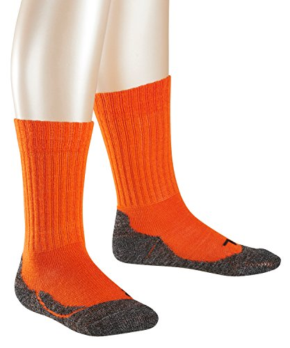 FALKE Jungen Socken Active Warm, Orange (Tangerine 8094), 27-30 (Kind Socken Warm)