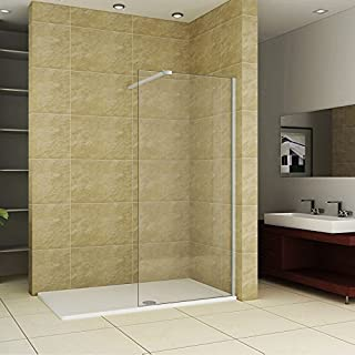 A&R BATHROOMS 1800mm x 900mm Wet Room Walk-in Shower Tray & 1200 Glass Panel