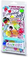 Giochi Preziosi - Crystal Ball, Tubetto di Pasta 20g con Cannello di Soffiaggio, Colori Assortiti