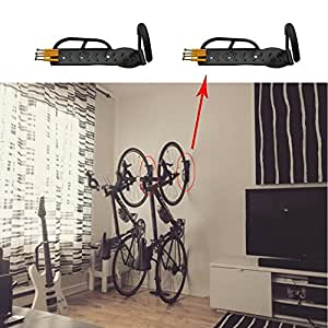 fahrradhalter zur wandmontage platzsparend 2 st ck garten. Black Bedroom Furniture Sets. Home Design Ideas