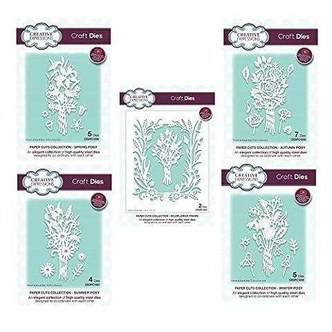 Creative Expressions Paper Cuts Craft Ensemble de Die–Fleurs sauvages saisons