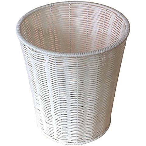 QZz bagno Trash Non ci sono copertine Cestino fatto a mano ( dimensioni : 12L )