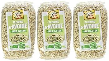 Grillon d'or Flocons d'Avoine 500 g Bio - Lot de 3