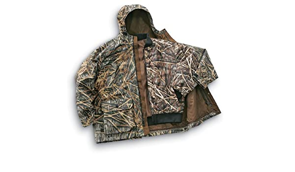 41302d1c42427 Browning Hydro-Fleece GORE-TEX 4-in-1 Insulated Parka Mossy Oak Shadow  Grass, MO SHADOWGRASS, M: Amazon.co.uk: Sports & Outdoors