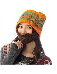 Voberry Women's Winter Knit Crochet Beanie Mask Mouth-Muffle Face Warmer Ski Cap Earmuffs Knitting Hat