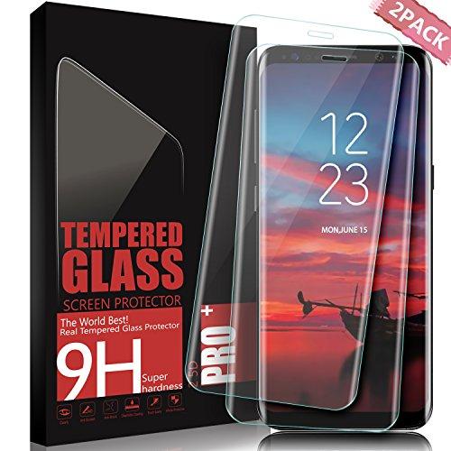 Protector de Pantalla Galaxy S8 Plus, SGIN [2 Pack] 3D Full Coverage Templado Protector de Pantalla, 9H Dureza Anti-rasguños, HD Clear Vidrio Templado Protector para Samsung Galaxy S8 Plus