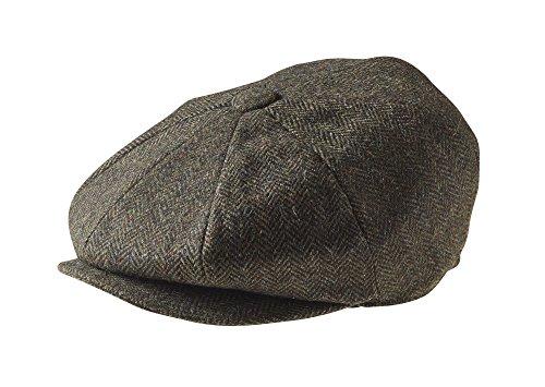 Kinder Edwardian Kostüm - Peaky Blinders Cap - 8 teilig - Wolle - Jungen - Zeitungsverteiler, Grün 54
