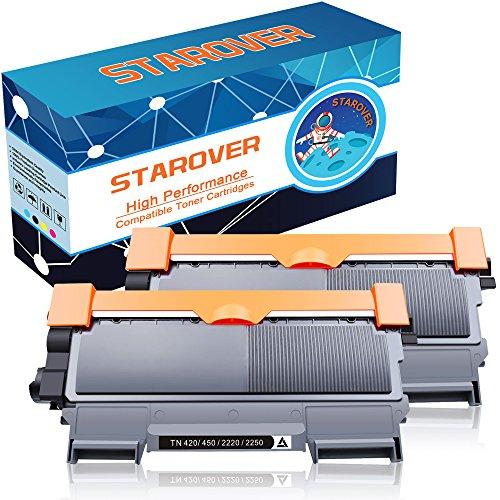 STAROVER 2 Packungen Kompatibel Schwarz Toner Ersatz für Brother TN2220 TN-2220 Tonerkartuschen für Brother HL-2130 HL-2132 HL-2220 HL-2230 HL-2240 HL-2240D HL-2250DN HL-2270 HL-2270DW HL-2275 HL-2280DW DCP-7055 DCP-7055W DCP-7060D DCP-7065DN DCP-7070DW MFC-7360N MFC-7460DN MFC-7860DW FAX-2840 FAX-2940 FAX-2845 Drucker