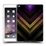 Head Case Designs Offizielle PLdesign Schatten Gold Und Purpurrot Glitzerndes Metall Soft Gel Hülle für iPad Air 2 (2014)