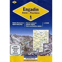 Engadin, 1 DVD-ROM Davos - Poschiavo. Für Windows ME/2000/XP/Vista/7. 1 : 50.000