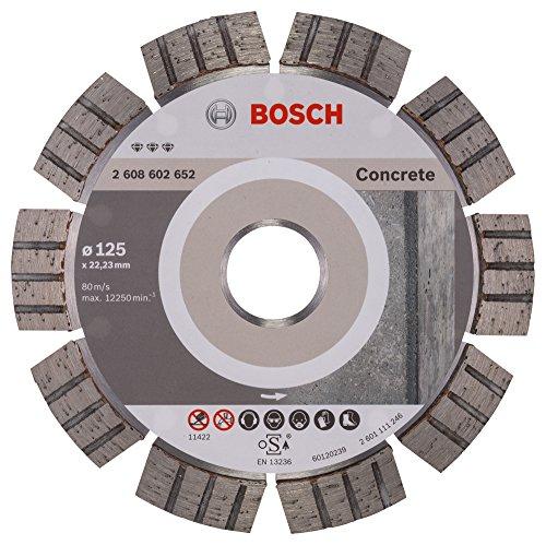 BOSCH Diamanttrennscheibe Best für Concrete, 125 x 22,23 x 2,2 x 12 mm, 2608602652