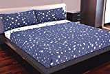 Juego de sábanas estampado Estrellas DENIM STAR (Azul, para cama de 150x190/200)