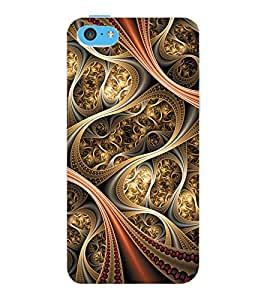 ColourCraft Beautiful Pattern Design Back Case Cover for APPLE IPHONE 5C
