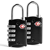 EVST - 4-Dial Combination Security Padlock for Travel Suitcase Luggage Bag, TSA Approved Travel Luggage Backpack bag padlock and Travel Accessories (Pack of 2 Locks)