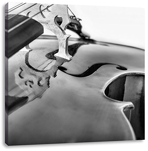 Monocrome, Cello, Format: 40x40 auf Leinwand, XXL riesige Bilder fertig gerahmt mit Keilrahmen, Kunstdruck auf Wandbild mit Rahmen, günstiger als Gemälde oder Ölbild, kein Poster oder Plakat