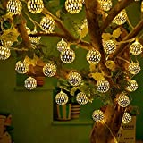 RAAJAOUTLETS 30LED Moroccan Metal Fairy String Lights Christmas Tree and Diwali Party Hanging Light for Festival Indoor Outdoor Decorations(Pack of 1)