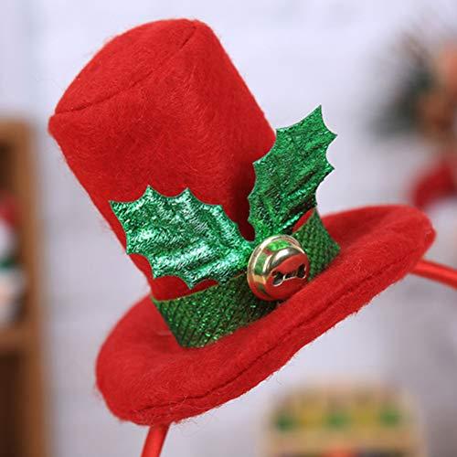 Amosfun 2Pcs Cute Santa Caps Haarband Kostüm Haarzubehör für Cosplay Christmas Party - Cute Christmas Santa Kostüm