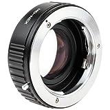 Quenox Fokalreduktor-Adapter (Objektivadapter, Focal Reducer Speed Booster) Minolta SR Objektiv (MD/MC) an Sony E-Mount z.B. für Sony Alpha a6000 a5100 a5000 a3000 NEX-7 NEX-6 NEX-5T NEX-5N NEX-5R NEX-5 NEX-3 NEX-3N NEX-F3 NEX-C3 VG900 VG30 VG20 VG10 FS700