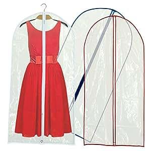 Hangerworld Lot de 12 housses transparentes zippées pour robes/costumes Tricolore