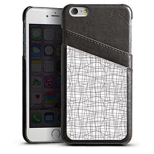 Apple iPhone 6 Housse Étui Silicone Coque Protection Dessin Lignes Motif Étui en cuir gris