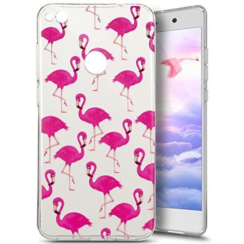 Preisvergleich Produktbild Huawei P8 Lite 2017 Hülle,Huawei P8 Lite 2017 Silikon Schutzhülle Transparent,Ukayfe Rosa Flamingo Muster TPU Case Hülle Ultradünne Silikon Gel Schutzhülle Durchsichtig Kristall Klar Silikon Schutz Handy Hülle Case Tasche Etui Bumper Kratzfeste TPU Bumper Rückseite Handy Tasche Case für Huawei P8 Lite 2017, Rosa Flamingo