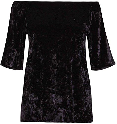 Purple Hanger Damen T-Shirt Schwarz