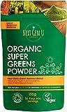 Next Gen U | Organic Super Greens Powder 150g | Vegan Green Super Foods Blend Supplement with Nutrition & Vitamins | Maca Matcha Wheatgrass Acai Flaxseed | Boosts Immune Function Energy & Brain Focus from Next Gen U