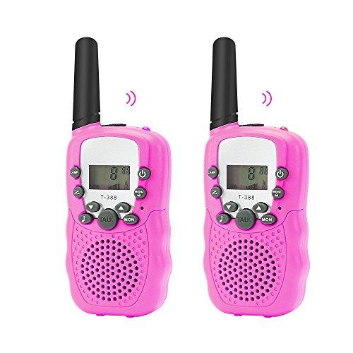 Noodei T388 Durable Walkie Talkie Kinder Senioren/Mini Radio Spielzeug für Kinder Abenteuer / 3-5km Waki Taki mit Taschenlampe Vox für Outdoor Party Riding (Streaming A