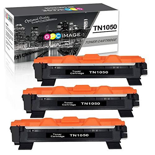 GPC Image TN1050- (3 Nero) Cartuccia toner compatibile per Brother HL-1110 DCP-1510 HL-1210W DCP-1610W HL-1112 MFC-1810 HL-1212W MFC-1910W DCP-1612W DCP-1512