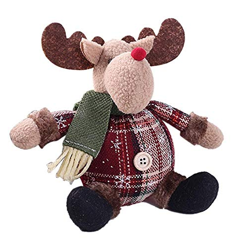 Generic Christmas Gift Cute Santa Claus Snowman Elk Cotton Stuffed Toy Ornaments Xmas Tree Table Decoration Doll
