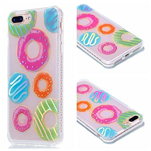 Ouneed® Für iPhone 8 plus 5.5 Zoll Hülle , Luxus Silikon TPU Blume Schutz Handy Hülle Case Tasche Etui Bumper für iPhone 8 plus 5.5 Zoll (B) C