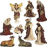 Figure di natività, set culla 10 pezzi. orientali, figure di vestire per cifre da 42cm (44635091946)