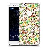 Head Case Designs Offizielle Micklyn Le Feuvre Meerschweinchen und Gänseblümchen und Aquarell Muster 2 Ruckseite Hülle für Huawei P10 Lite