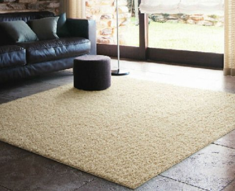 Rug Pads Einfache modernes Wohnzimmer Couchtisch Teppich Seide Plüsch Schlafzimmer Bett Teppichböden, Shallow Camel, 120CM*160CM -