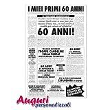 Biglietto auguri giornale compleanno 60 anni amico