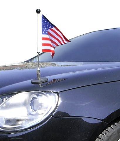 magnetisch haftender Autofahnen-Ständer Diplomat-1 USA mit Super-Magnet für Ihre Autoflaggen -- Auto Fahne & Flagge