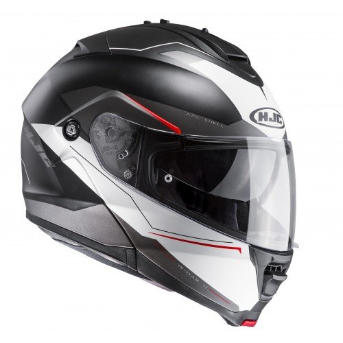 Casco de moto de HJC, IS Max II Magma MC1SF, de color rojo, tamaño L