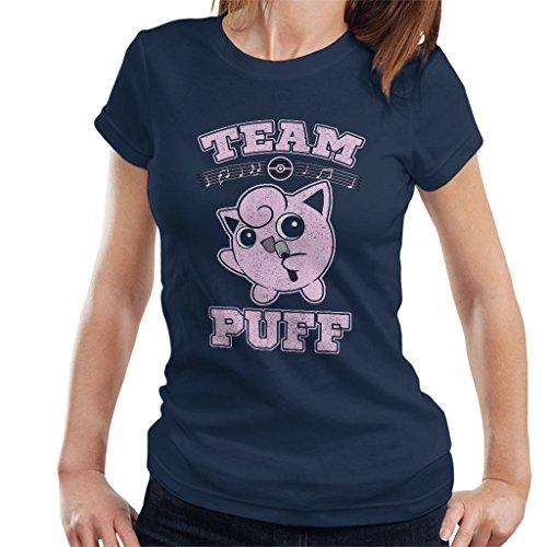 Team Puff Jigglypuff Women's T-Shirt Navy Blue -