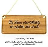 Mr. & Mrs. Panda Türschild Sportart Mölkky Classic Schild - 100% handgefertigt aus Bambus Holz - Anhänger, Geschenk, Vorname, Name, Initialien, Graviert, Gravur, Schlüsselbund, handmade, exklusiv