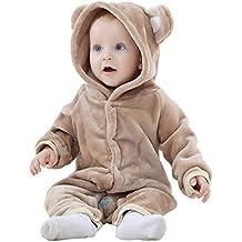 MICHLEY Bebé ropa Niños Niñas disfraces primavera Franela Traje animales Pelele