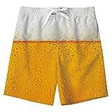 Ragazzi Che nuotano Trunks Hawaii Swim Shorts Birra Design Pantaloni da Tavolo per la Vacanza in Spiaggia Surf Informale 14-16 Anni