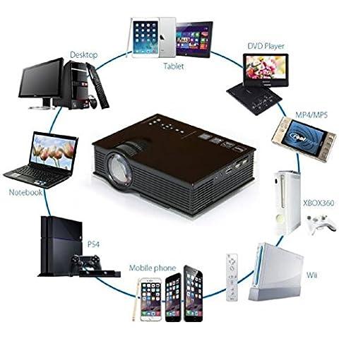 Tongshi Nueva UC40 + Pro LED de cine en casa Cine Juego proyector HD 1080P HDMI USB VGA Juego