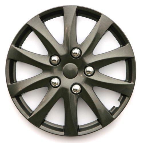 "15/"" 15 INCH CAR VAN WHEEL TRIMS HUB CAPS SILVER 03-07 SMART FOR TWO"