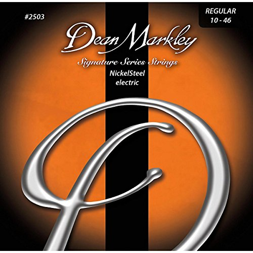Dean Markley DM2503 - Juego de cuerdas para guitarra eléctrica de acero de níquel, 10-46