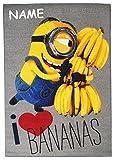 alles-meine.de GmbH Teppich / Spielmatte -  Minions - i Love Bananas - Ich Einfach unverbesserlic..