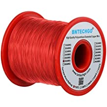 Bntechgo - 1 bobina de hilo de cobre esmaltado de 28 AWG, 454 g,
