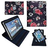 Schwarze Blumen Tablet Tasche Schutz Hülle für 10 Zoll Jay-Tech / CANOX Tablet PC 101