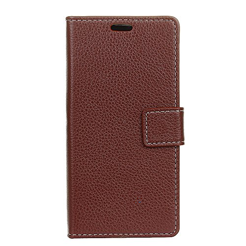 Sharp Aquos R SH-03J Case, None Luxury PU Leather Wallet Flip Protective Cover Case Cover with Card Slots and Stand for Sharp Aquos R SH-03J Brown Sharp Aquos Slim